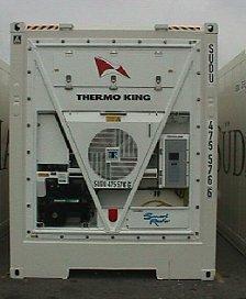 Рефрижераторный контейнер вместе срефрижераторным агрегатом